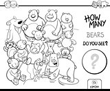counting bears coloring book activity