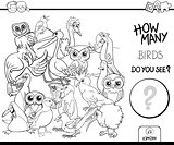 counting birds coloring page activity