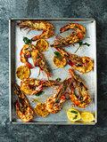 rustic piri-piri grilled prawn