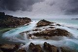 Stormy seascape Meringo Australia