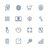 Simple icons for app, programs and sites. Set with different icons