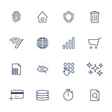 Simple internet icons set. Universal internet icons