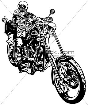 Skeleton Rider On Chopper