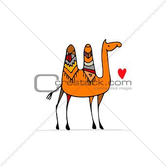 Camel, sketch for your design
