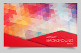Bright color polygonal banner