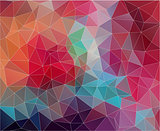 Flat triangle Background with vintage color.