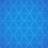 Seamless Damask Pattern Blue Background