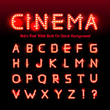 Retro cinema font