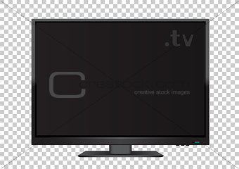 TV on transparent background