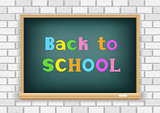back to school blackboard white wall