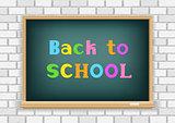 back to school blackboard white wall