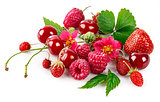 Fresh berry raspberry strawberry healthy food cherry