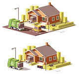 Vector low poly house icon