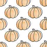Pattern with pumpkins
