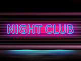 lighting sign of night club