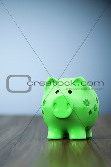 green clover piggy bank background