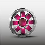 Red cog futuristic logo