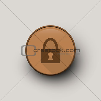 Circle with lock