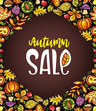 Autumn Harvest Festival corner template design. Vector illustration.