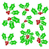 Set of Holly Berry Icons