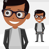 Avatar boy, vector illustration, isolated objects. For modern websites and mobile app.