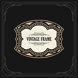 Calligraphic Elegant Ornament Frame Lines. Restaurant menu. Luxury Horizontal vintage ornate greeting card