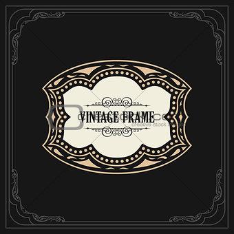 Calligraphic Elegant Ornament Frame Lines. Restaurant menu. Luxury Horizontal vintage ornate greeting card
