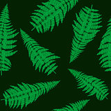 Seamless background with green fern