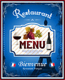 Vintage french restaurant menu and poster design
