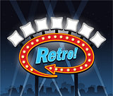 Retro vintage motel signe place for text