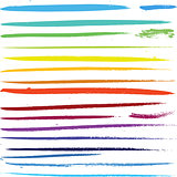 Multi colored paint art brushes