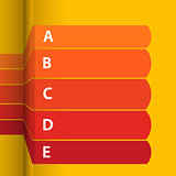 Red and yellow blank paper info graphic