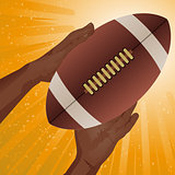 Rugby American football catch