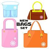 Woman's bags set.