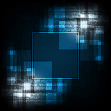 Geometry in technology concept on a dark blue background.