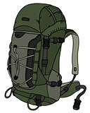 Khaki green large backpack