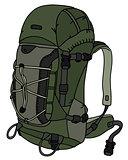 Khaki green large backpack