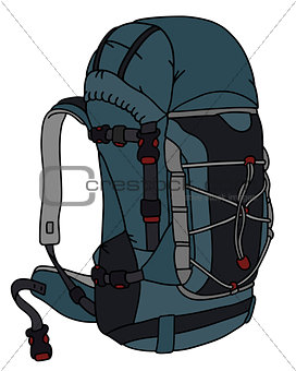 Blue and gray backpack