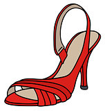 Red tape shoe