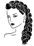 Woman with braid