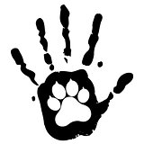 dog pet animal paw care logo template, vector illustration concept for animal business services