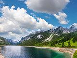 Alpine summer lake (Austria).