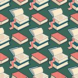 Vector Seamless pattern with book.