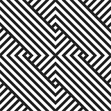 Geometric seaamless vector pattern. Black and white striped texture.