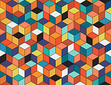 Geometric colorful seamless pattern. Mosaic texture.