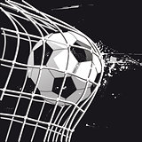 Football goal, goal shot, illustration