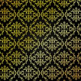 Seamless Golden Damask Pattern Background