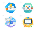 Material design icons set for web design and  development, SEO, web manager
