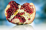 Closeup on a pomegranate