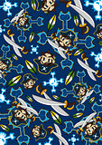 Cute Cartoon Pirate Pattern